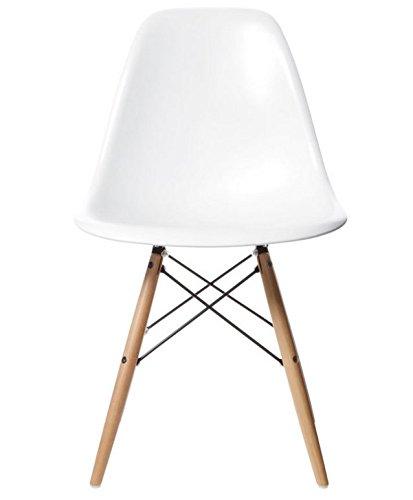 AHOC Charles & Ray inspiriert Eiffel DSW Retro Design Wood Style Stuhl für Büro Lounge Küche–weiß (1)
