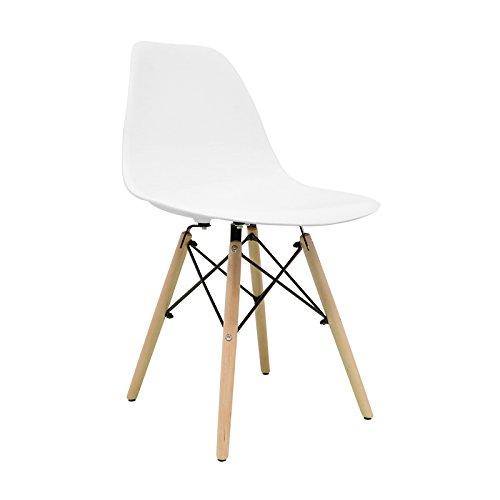 Nordische Stuhl–Stuhl tower One Stuhl Nordic Skandinavien inspiriert Sessel Eames DSW–(wählen Sie Ihre Farbe) weiß