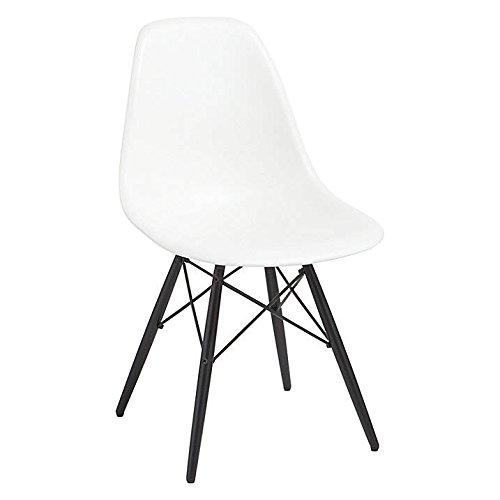 MOF (begriffsklärung) inspiriert Eiffel DSW Esszimmerstuhl Kunststoff Stühle, schwarz Beine modernes Lounge Möbel White Seat With Black Leg