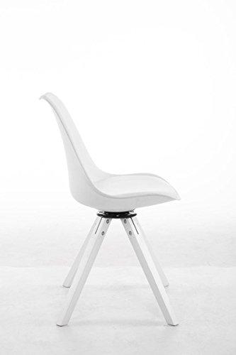 Clp Design Retro Stuhl Troyes Square Mit Kunstlederbezug Und