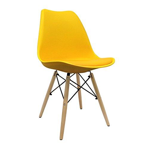 Stuhl skandinavischer Bettbezug–Stuhl tower–Stuhl Nordic Scandi inspiriert Sessel Eames DSW–tradis–(wählen Sie Ihre Farbe) Gelb