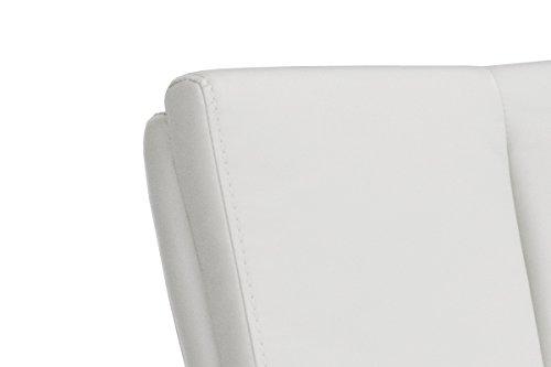Robas Lund, Stuhl, Barstuhl, Barhocker, Bru.ni, 360 Grad drehbar, Edelstahl/weiß, 50 x 42 x 114 cm, BRRE10WX