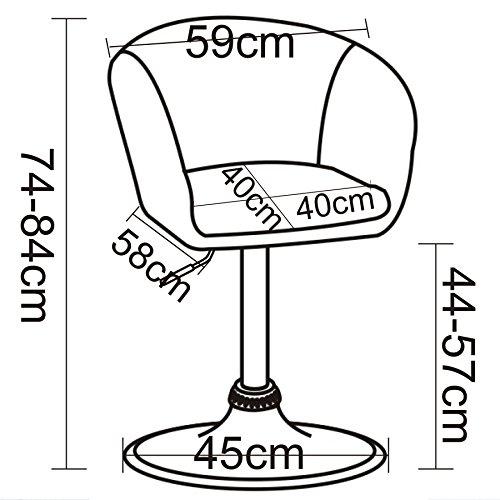 WOLTU BH10szw Barsessel 1er Set, stufenlose Höhenverstellung, verchromter Stahl, Kunstleder, gut gepolsterte Sitzfläche mit Armlehne und Rücklehne, 2 farbig, Schwarz+Weiß