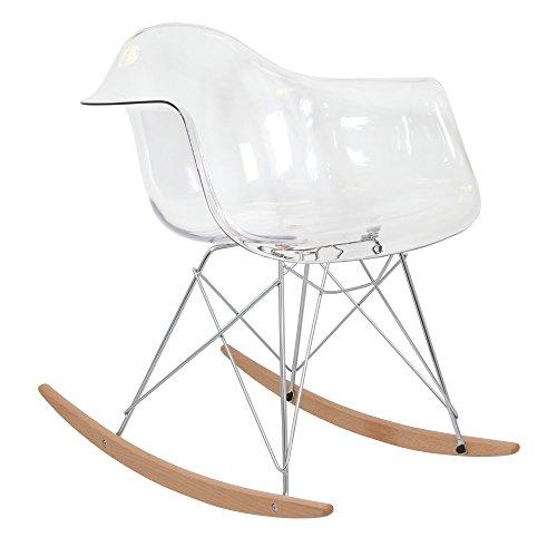 * Neue Hohe Version * 50er Jahre inspiriert Designer Schaukelstuhl–Ghost transparent–Stuhl. Möbel ®