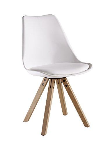 P & N Homewares® Sofia Eiffelturm inspiriert Stuhl aus Kunststoff Retro Weiß Schwarz Grau Rot Gelb Pink Grün Blau Retro weiß