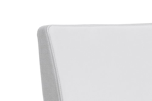 Robas Lund Stuhl, Barstuhl, Barstuhl, Lo.pes, 360 Grad drehbar, Edelstahl/weiß, 52 x 40 x 110 cm, LORE10WX