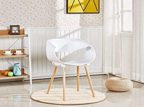 P & N Homewares® Nest Stuhl Kunststoff Retro modernen Esszimmerstühlen, weiß schwarz grau gelb braun, plastik, weiß, One Chair