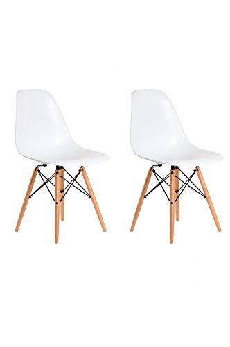 Aryana Home Eames Replik–Set Stühle, 51x 46,5x 81,5cm 51x46.5x81.5 cm weiß