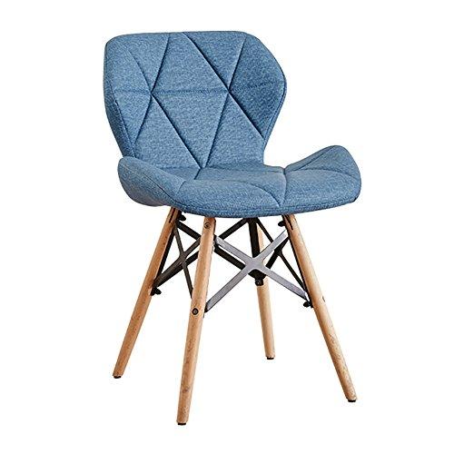 Mena Uk 12 Farbe Eiffel Style DSW Moderne Esszimmerstühle mit festen Buche Holzbeine, bequemen Sitz, für Schreibtisch, Terrasse, Terrasse, Büro, Küche, Lounging & More ( Farbe : Hellblau , größe : 38cmX50cmX45cm )
