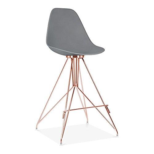 Cult Design Moda Barhocker mit Rückenlehne CD1 - Grau