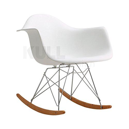 kulldesign. COM Schaukelstuhl RAR Style. Inspiriert durch das Design von Eames weiß