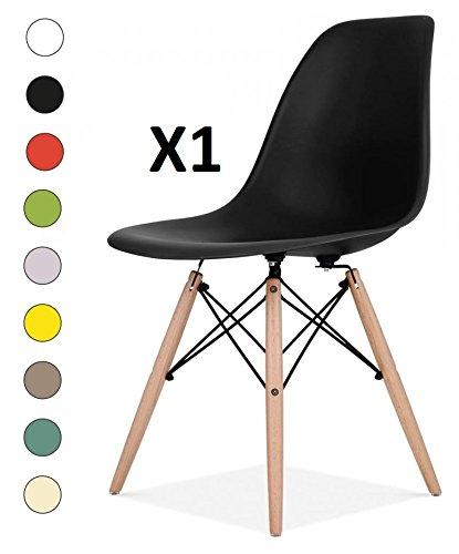 Millhouse hochwertige Stühle im Retro-Eiffel-Stil, für Esszimmer, Büro, als Beistellstuhl oder Vorzeigestück. Schwarz