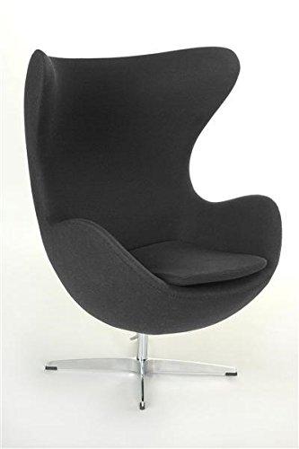 Sessel Stuhl Retro DIXON EGG Gepolstert Armlehnenstuhl Design Vetrostyle grau