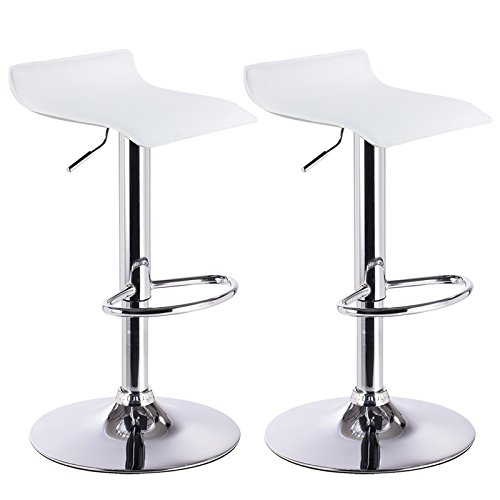 Barhocker Design Drehstuhl Hocker Barstuhl Lounge Bar Hocker 2x Weiß BH11ws