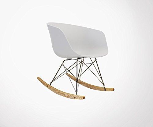 Schaukelstuhl Skandinavisches Design Ray weiß