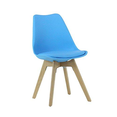 P & N Homewares® Lorenzo Tulip Stuhl Kunststoff DSW Retro Stühle weiß schwarz grau rot gelb pink grün blau