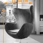 SAM® Design Armlehn Stuhl 4620-B in jeansoptik blau Armlehnstuhl in Stoff mit Füßen aus Edelstahl, Sessel höhenverstellbar, abnehmbares Sitzkissen, 360° drehbar, bequemer Sitzkomfort