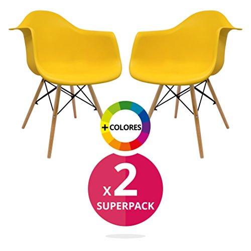 Stuhl Bettbezug (Pack 2)–Sessel tower–Stuhl Nordic Skandinavien inspiriert Sessel Eames DAW–Cala–(wählen Sie Ihre Farbe)