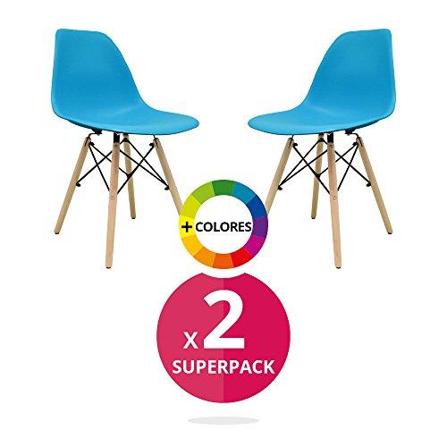 Stuhl Bettbezug (Pack 2)-Tower One-Stuhl Nordic Skandinavien inspiriert Stuhl Eames DSW Stuhl (wählen Sie Ihre Farbe)