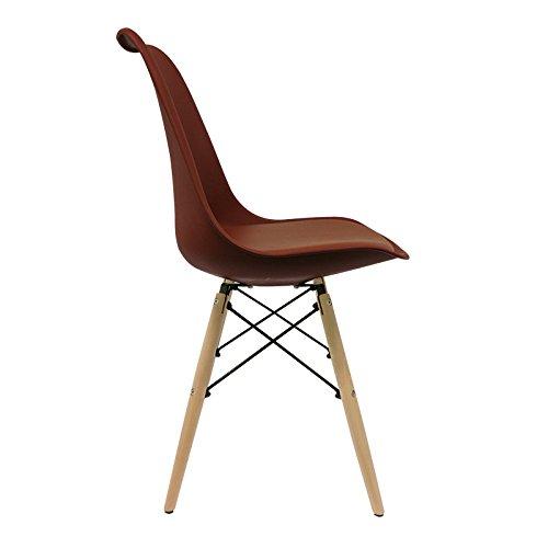 Stuhl skandinavischer Bettbezug (Pack 4)–Stuhl tower–Stuhl Nordic Scandi inspiriert Sessel Eames DSW–tradis–(wählen Sie Ihre Farbe)