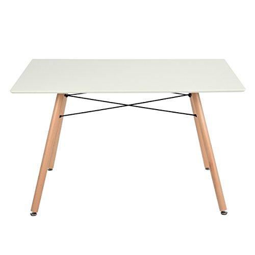 homycasa Rechteck Esstisch, Eames Küche Esstisch Kaffee, Tisch, weiß