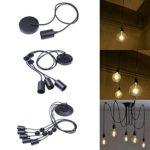 E27 Kronleuchter Pendelleuchten 1/3/5 Lichter Hängende Lampen Deckenbeleuchtung Vintage Industrial Edison Deckenleuchte