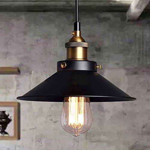 Esoes Vintage Retro Deckenleuchte - Vintage Industrial Chandelier Cage Retro Deckenleuchte Metall Lampenschirm für E27 Schwarz, schwarz (Glühbirne ausgeschlossen)