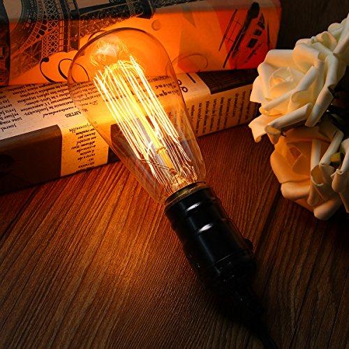 KINGSO E27 40W Edison Lampe ST64 Vintage Stil Glühbirne Squirrel Cage Retro Lampe Antike Beleuchtung 220V Birne