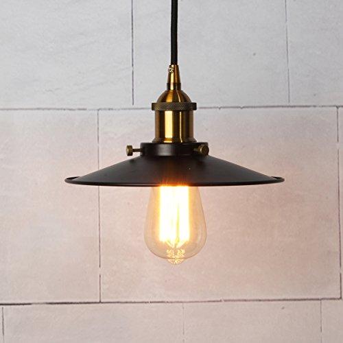 Vintage Pendelleuchte, Elfeland Retro Industrielle Deckenleuchte Loft Lampe, Eisen Lampenschirm E27 Lampenfassung 3-adriges Textilkabel(ohne Birne) Pack