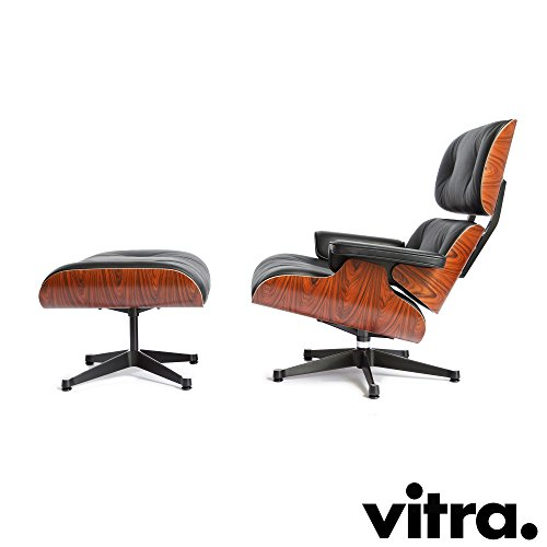 Vitra Lounge Chair & Ottoman XL Palisander/Nero