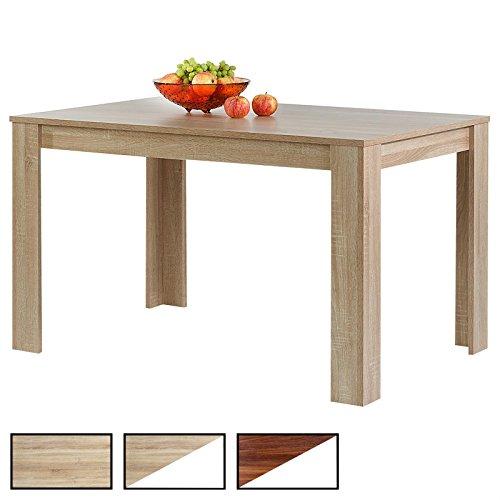 CARO-Möbel Esstisch Tijuana Esszimmertisch Küchentisch in 3 Farbausführungen, 120 x 80 cm (B x T)