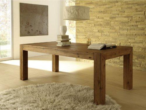 Esstisch Designer Tisch MASSIV ausziehbar 200-260x100 cm Akazie Esszimmertisch