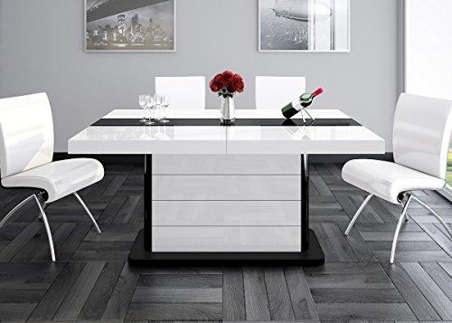 Esstisch PIANOSA Tisch ausziehbar in Super Hochglanz Acryl