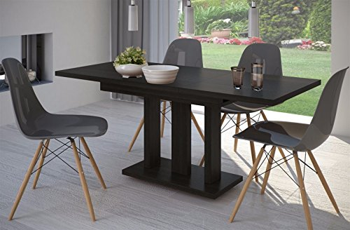 Esstisch Wenge ausziehbar 140cm - 190cm erweiterbar Küchentisch Auszugtisch Säulentisch