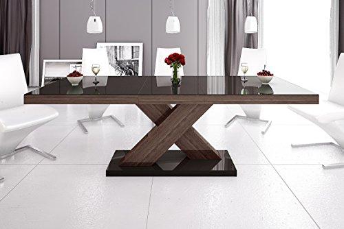 Esstisch XENON Tisch ausziehbar in Super Hochglanz Acryl