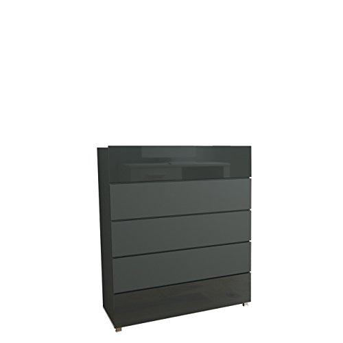 Mirjan24  Kommode Gordia G K5SZ mit 5 Schubladen, Anrichte, Mehrzweckschrank, Schubladenschrank, Sideboard, Highboard, Wohnzimmer