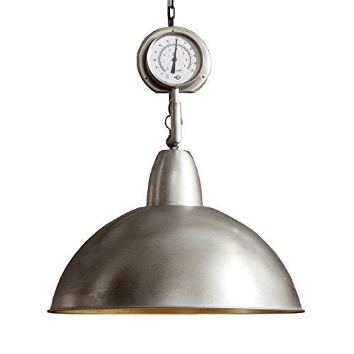 Retro Hängeleuchte HIGH PRESSURE XL 54cm silber Nickel Industrial Design Industrielampe Industrieleuchte Pendelleuchte Esszimmer Beleuchtung Hängelampe
