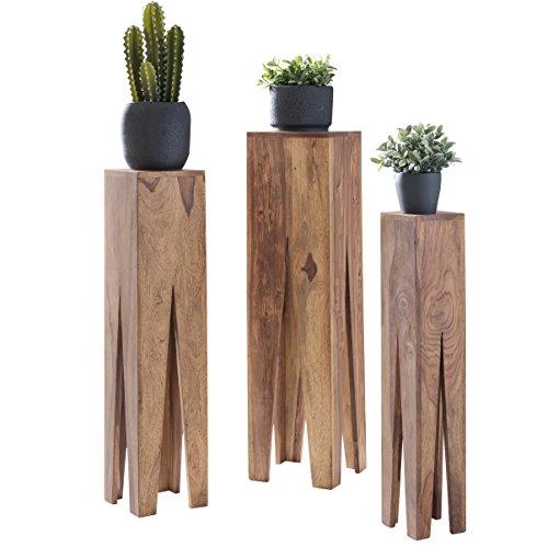Wohnling Massivholz Beistelltische 3er Set Neu