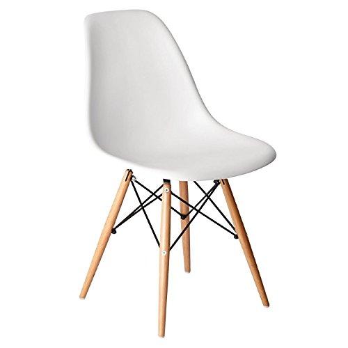 Bolero gg913Replica Eames Stühle, Polypropylen, 810mm Höhe, weiß (2Stück)