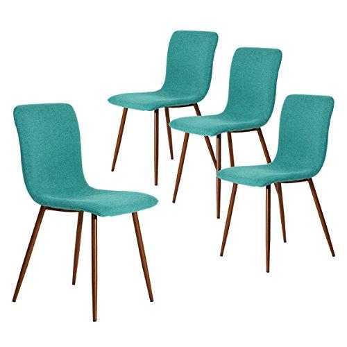 coavas Stoff Küche Esszimmerstühle 4er Set