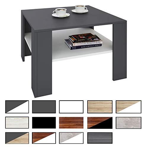 CARO-Möbel Couchtisch Beistelltisch Wohnzimmertisch Felice Stauraum, 68 x 68 cm