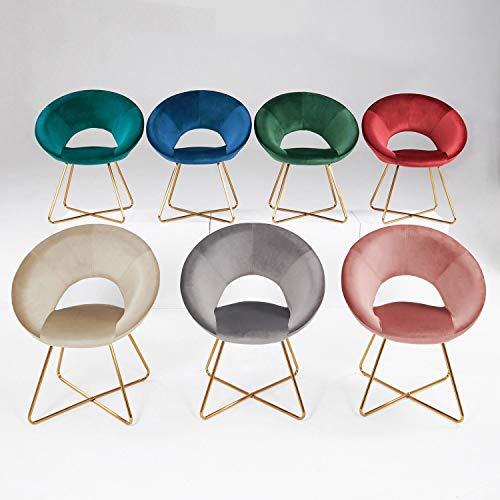 Duhome Esszimmerstuhl Stoffbezug (Samt) Konferenzstuhl Besucherstuhl herausragendes Design Farbauswahl 439D