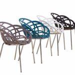 Euro Tische Esszimmerstühle modern, stilvoll & bequem - perfekt geeignet im Esszimmer, Wohnzimmer & Küche - 4