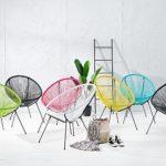 Invicta Interior Moderner Stuhl Acapulco Sessel Farbwahl Gartenstuhl wetterfest Outdoorstuhl