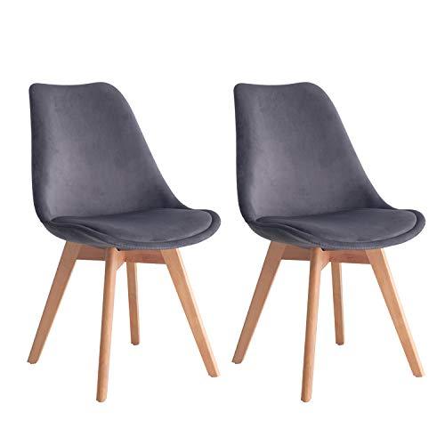 MIFI Retro Design Wooden Leg Küchenstuhl Eiffelturm Stuhl Stühle, 3 Farben zur Auswahl