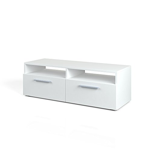 Vicco Lowboard Diego - Fernsehtisch Sideboard Fernsehschrank TV-Board Schrank (95cm, Weiß Hochglanz)