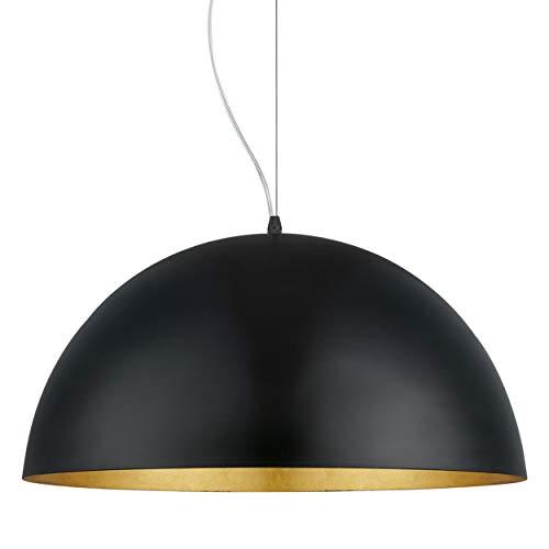 EGLO Pendellampe Gaetano 1, 1 flammige Pendelleuchte, Hängelampe aus Stahl, Farbe: Schwarz, gold, Fassung: E27, Ø: 53 cm