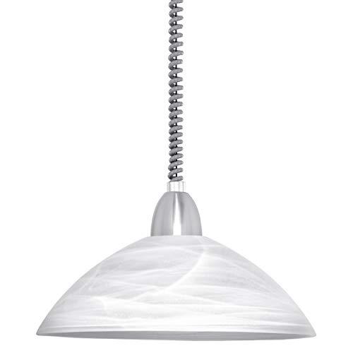 EGLO Höhenverstellbare Pendelleuchte, Metall, E27, Weiß