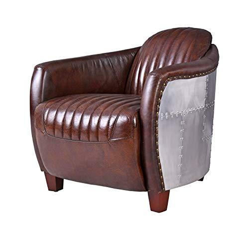 Ledersessel Braun Vintage Sessel Aviator Clubsessel Art Deco ovl012 Palazzo Exclusiv