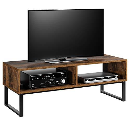 Homfa Fernsehtisch TV Regal TV Schrank TV Tisch TV Möbel TV Lowboard TV Board Fernsehschrank Wohnzimmertisch Vintage Holz Metell 108x40x40cm